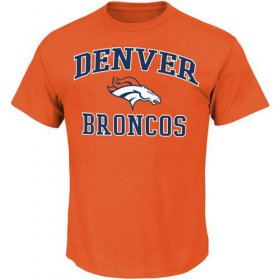 Wholesale Cheap Denver Broncos Majestic Big And Tall Heart & Soul III T-Shirt Orange