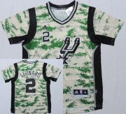 Wholesale Cheap San Antonio Spurs #2 Kawhi Leonard Revolution 30 Swingman 2014 New Camo Short-Sleeved Jersey