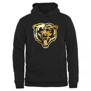 Wholesale Cheap Men's Chicago Bears Pro Line Black Gold Collection Pullover Hoodie