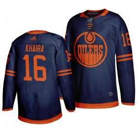 Wholesale Cheap Edmonton Oilers #16 Jujhar Khaira Blue 2019-20 Third Alternate Jersey
