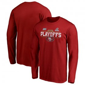 Wholesale Cheap San Francisco 49ers 2019 NFL Playoffs Bound Chip Shot Long Sleeve T-Shirt Scarlet