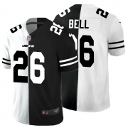Cheap New York Jets #26 Le'Veon Bell Men's Black V White Peace Split Nike Vapor Untouchable Limited NFL Jersey