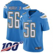 Wholesale Cheap Nike Chargers #56 Kenneth Murray Jr Electric Blue Alternate Youth Stitched NFL 100th Season Vapor Untouchable Limited Jersey