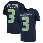 Wholesale Cheap Nike Seattle Seahawks #3 Russell Wilson Youth Player Pride 3.0 Name & Number T-Shirt College Navy