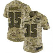 Wholesale Cheap Nike Patriots #35 Kyle Dugger Camo Women's Stitched NFL Limited 2018 Salute To Service Jersey