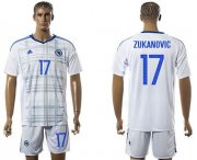 Wholesale Cheap Bosnia Herzegovina #17 Zukanovic Away Soccer Country Jersey