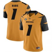 Wholesale Cheap Missouri Tigers 1 Tyler Badie Gold Nike College Football Jersey