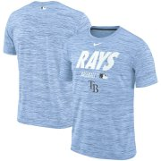 Wholesale Cheap Tampa Bay Rays Nike Authentic Collection Velocity Team Issue Performance T-Shirt Light Blue