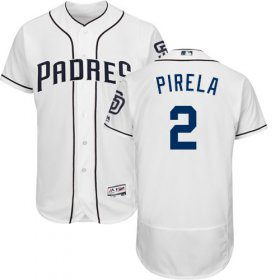 Wholesale Cheap Padres #2 Jose Pirela White Flexbase Authentic Collection Stitched MLB Jersey