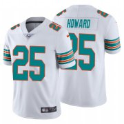 Wholesale Cheap Nike Dolphins #25 Xavien Howard White Alternate Men's Stitched NFL 100th Season Vapor Untouchable Limited Jersey