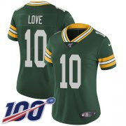 Wholesale Cheap Nike Packers #10 Jordan Love Green Team Color Women's Stitched NFL 100th Season Vapor Untouchable Limited Jersey