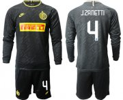 Wholesale Cheap Inter Milan #4 J.Zanetti Third Long Sleeves Soccer Club Jersey