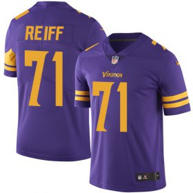 Wholesale Cheap Nike Vikings #71 Riley Reiff Purple Men\'s Stitched NFL Limited Rush Jersey