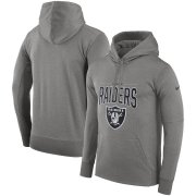 Wholesale Cheap Las Vegas Raiders Nike Sideline Property of Performance Pullover Hoodie Gray
