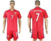Wholesale Cheap Norway #7 Pedersen Home Soccer Country Jersey