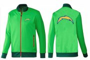 Wholesale Cheap NFL Los Angeles Chargers Team Logo Jacket Green