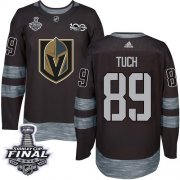 Wholesale Cheap Adidas Golden Knights #89 Alex Tuch Black 1917-2017 100th Anniversary 2018 Stanley Cup Final Stitched NHL Jersey