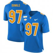 Wholesale Cheap Pittsburgh Panthers 97 Aaron Donald Blue 150th Anniversary Patch Nike College Football Jersey