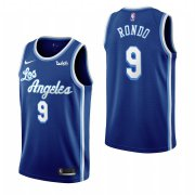 Wholesale Cheap Los Angeles Lakers #9 Rajon Rondo Blue 2019-20 Classic Edition Stitched NBA Jersey