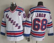 Wholesale Rangers #68 Jaromir Jagr White CCM Throwback Stitched NHL Jersey