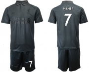 Wholesale Cheap Liverpool #7 Milner Black Soccer Club Jersey