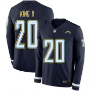 Wholesale Cheap Nike Chargers #20 Desmond King II Navy Blue Team Color Men's Stitched NFL Limited Therma Long Sleeve Jersey