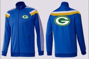 Wholesale Cheap NFL Green Bay Packers Team Logo Jacket Blue_3