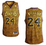 Wholesale Cheap Los Angeles Lakers #24 Kobe Bryant Leopard Print Fashion Jersey