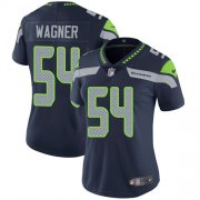 Wholesale Cheap Nike Seahawks #54 Bobby Wagner Steel Blue Team Color Women's Stitched NFL Vapor Untouchable Limited Jersey