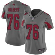 Wholesale Cheap Nike Cardinals #76 Marcus Gilbert Silver Women's Stitched NFL Limited Inverted Legend Jersey