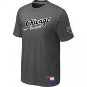 Wholesale Cheap Chicago White Sox Nike Away Practice MLB T-Shirt Crow Grey