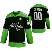 Wholesale Cheap Washington Capitals Custom Men's Adidas Green Hockey Fight nCoV Limited NHL Jersey