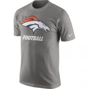 Wholesale Cheap Denver Broncos Nike Facility T-Shirt Heathered Gray