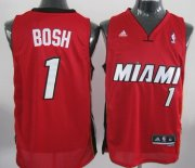 Wholesale Cheap Miami Heat #1 Chris Bosh Revolution 30 Swingman Red Jersey
