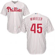 Wholesale Cheap Phillies #45 Zack Wheeler White(Red Strip) New Cool Base Stitched MLB Jersey