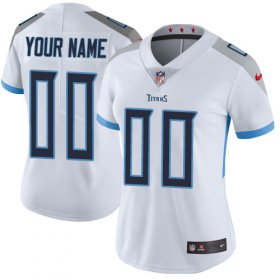 Wholesale Cheap Nike Tennessee Titans Customized White Stitched Vapor Untouchable Limited Women\'s NFL Jersey