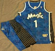 Wholesale Cheap Orlando Magic #1 Tracy McGrady Blue All-Star Swingman Throwback Jersey Short Suits