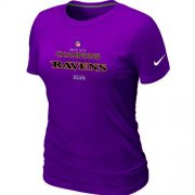 Wholesale Cheap Women's Nike Baltimore Ravens 2012 AFC Conference Champions Trophy Collection Long T-Shirt Purple