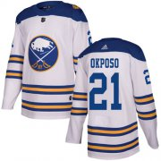Wholesale Cheap Adidas Sabres #21 Kyle Okposo White Authentic 2018 Winter Classic Youth Stitched NHL Jersey