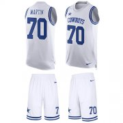 Wholesale Cheap Nike Cowboys #70 Zack Martin White Men's Stitched NFL Limited Tank Top Suit Jersey