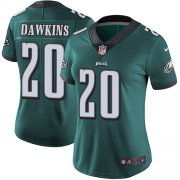 Wholesale Cheap Nike Eagles #20 Brian Dawkins Midnight Green Team Color Women's Stitched NFL Vapor Untouchable Limited Jersey