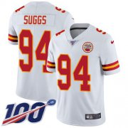 Wholesale Cheap Nike Chiefs #94 Terrell Suggs White Youth Stitched NFL 100th Season Vapor Untouchable Limited Jersey