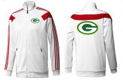 Wholesale Cheap NFL Green Bay Packers Team Logo Jacket White_1
