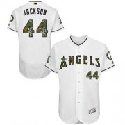Wholesale Cheap Angels of Anaheim #44 Reggie Jackson White Flexbase Authentic Collection Memorial Day Stitched MLB Jersey