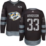 Wholesale Cheap Adidas Predators #33 Viktor Arvidsson Black 1917-2017 100th Anniversary Stitched NHL Jersey