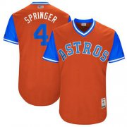 "Wholesale Cheap Astros #4 George Springer Orange ""Springer"" Players Weekend Authentic Stitched MLB Jersey"