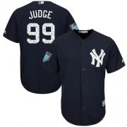 Wholesale Cheap Yankees #99 Aaron Judge Navy Blue 2018 Spring Training Cool Base Stitched MLB Jersey