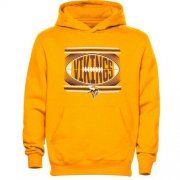 Wholesale Cheap Minnesota Vikings Meshed Fleece Hoodie Gold