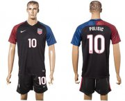 Wholesale Cheap USA #10 Pulisic Black Soccer Country Jersey