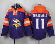 Wholesale Cheap Nike Vikings #11 Laquon Treadwell Purple Player Pullover NFL Hoodie